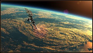 International Space Station Terragen render by Richard